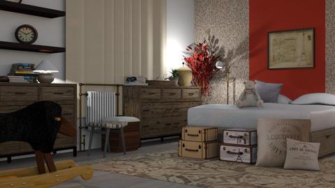 Red_Ficus - Bedroom  - by ZuzanaDesign