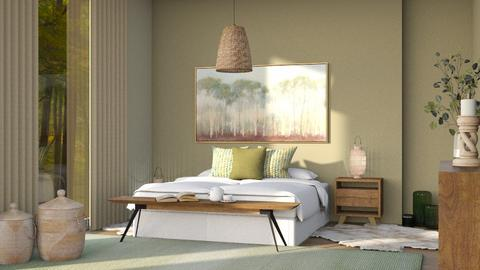 green and wood - Bedroom  - by Sirtzuu93