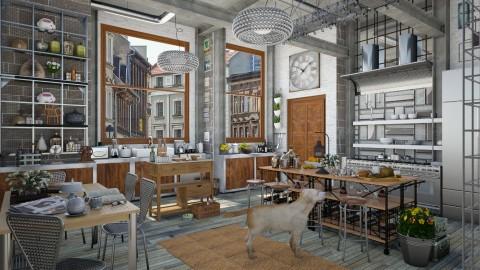 Design 64 Retro Kitchen - Kitchen  - by Daisy320