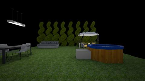 Garden with hot tub spa - Garden  - by Super estilista