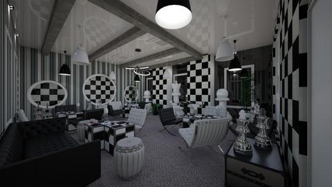 Chest_Cafe_Corner_B_W_Interior - Modern - Living room  - by Nikos Tsokos