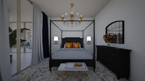 Glamour_golden bedroom - Bedroom  - by lovasemoke