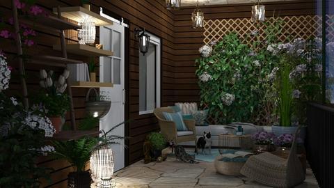 Spring Sun Space Contest - Garden  - by lpkinteriordesigns