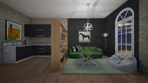 Green Bricks - Living room - by Ginntare
