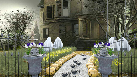 halloween party - Garden  - by ilpiccio