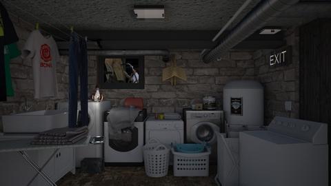Laundry basement - Classic - by HenkRetro1960