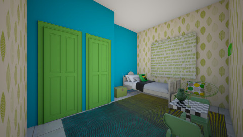 Green Bedroom - Bedroom - by Wendy Broyles