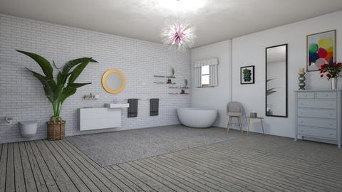 grey modern bath - Bathroom  - by Andre01