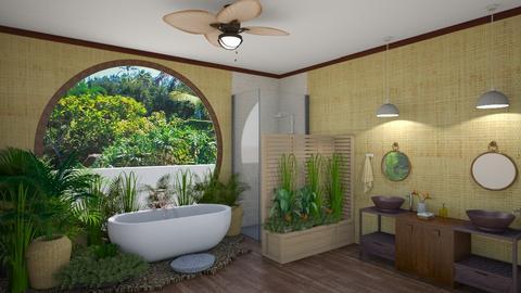 tropical island bathroom - by fippydude