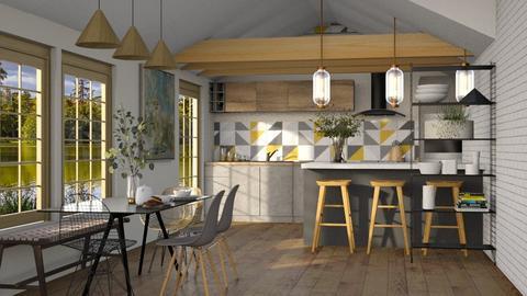 scandinavian - Dining room  - by soralobo