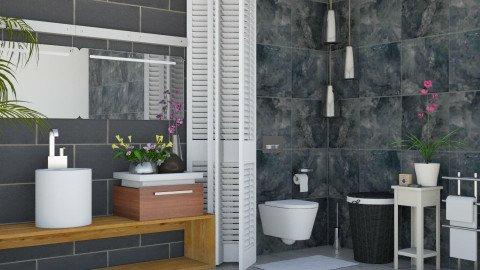 Fleur_Tiles_ Bathroom - Modern - Bathroom  - by ayudewi