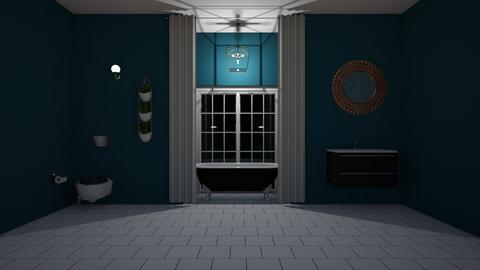 peacock themed bathroom - Classic - Bathroom - by Gennevieve Moya