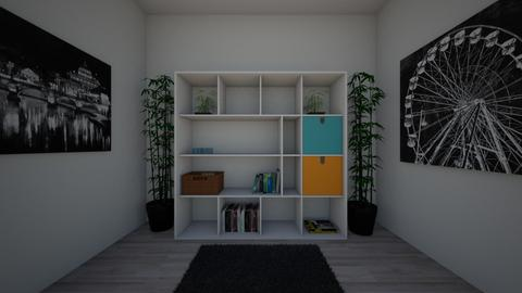 Modern black and white - Bedroom  - by Loveislove