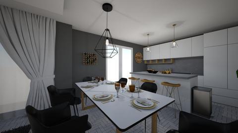 projekt tomusia kochango  - Dining room - by OliwkaK