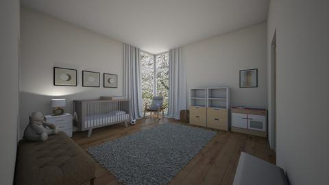 cream little boys bedroom - Kids room  - by Thekickfamily