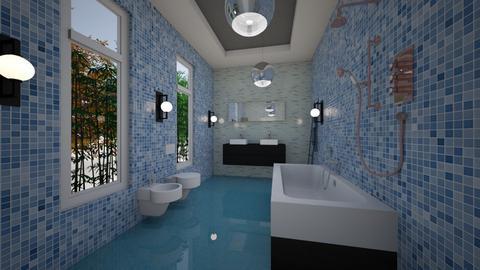 BathRoom blue - Modern - Bathroom  - by Nikos Tsokos