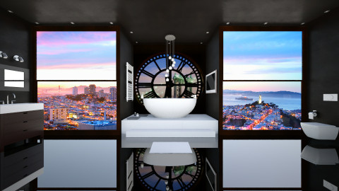 Black Clock Penthouse - Modern - Bathroom - by LoukArt