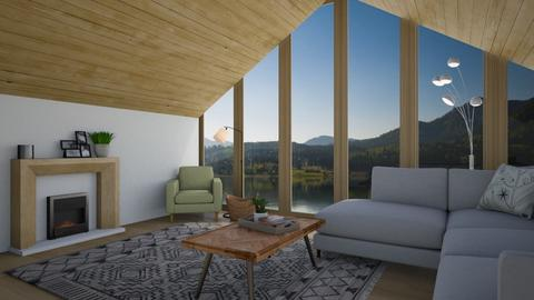 Mountain Cabin - Living room  - by flowerchild369