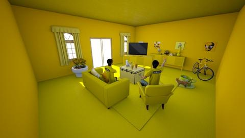 yellow - Glamour - Living room - by waad702