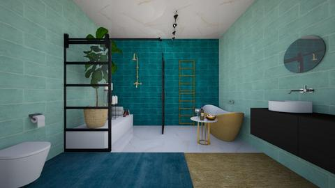 Turquoise Bathroom by Mar - Bathroom - by Maritleonie05