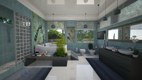 Peacocks Bathroom - Glamour - Bathroom  - by Joao M Palla