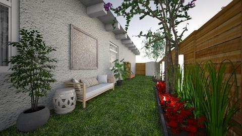 narrow side yard - Modern - Garden  - by kay91designs