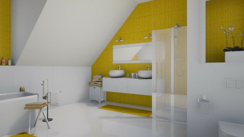 yellow bath - Bathroom  - by MandyB84