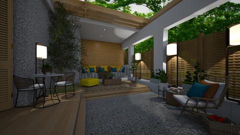Small patio - Garden  - by rosanebpf