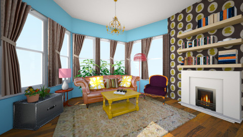 Chicago Front Room - Vintage - by manicpop