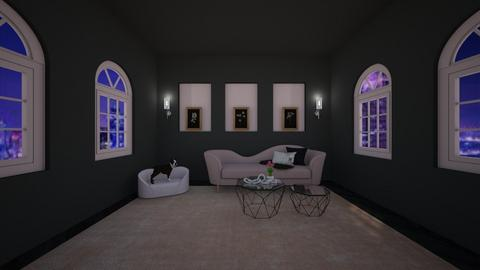 Black and Blush - Living room  - by BaylorBear