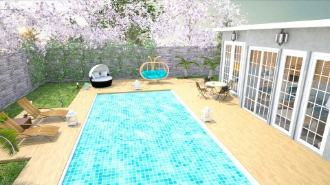 Garden Top view - Living room - by mayssa ltf