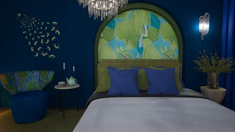 M_ Green and Blue - Bedroom  - by milyca8