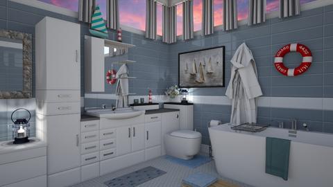 Nautical Bathroom - Modern - Bathroom  - by Irishrose58