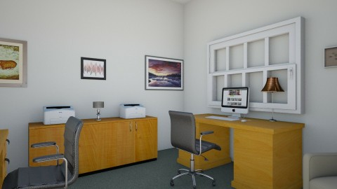 Business Center Current - Rustic - Office  - by clevejohnson