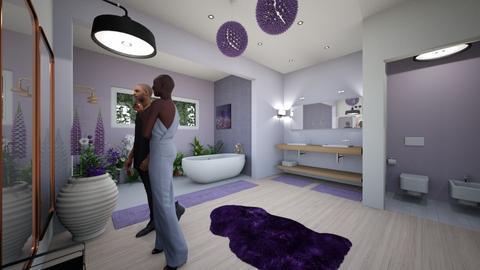 lavender paradise - Bathroom  - by adriannalroman