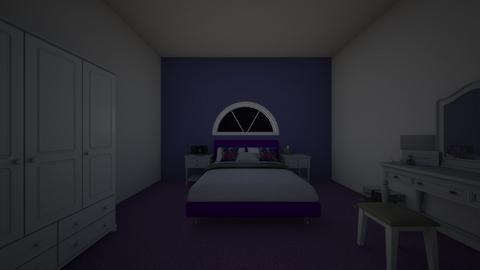 purple bedroom - by kez12