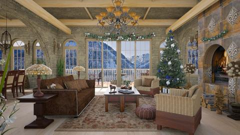 Design 481 Christmas in the Mountains - Living room  - by Daisy320