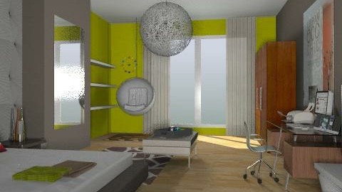 Green Bedroom remake - Eclectic - Bedroom  - by idesine