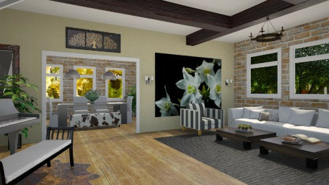 Piano room - Living room - by wanderingpsychonaut