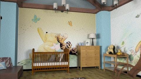 Chocolate and Blue - Modern - Kids room  - by chloedaniella