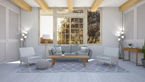 sunny day - Modern - Living room  - by NEVERQUITDESIGNIT