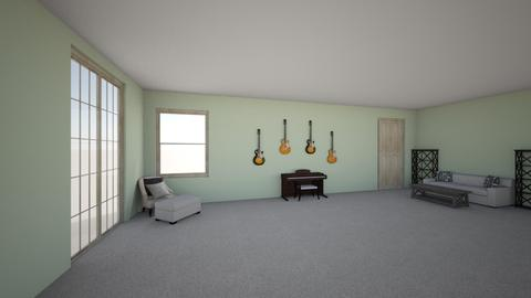 Piano room - Modern - Living room  - by stokeshannah