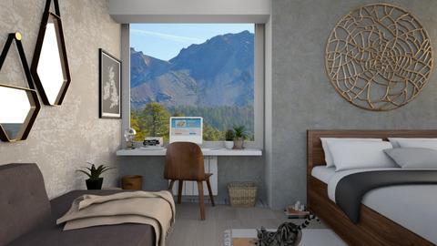 Mixed Style  - Minimal - Bedroom  - by zabarra