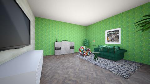 greenlivingroom - Living room - by Emma_04