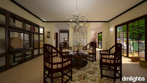 Modern Ming - Eclectic - Dining room  - by Lackew