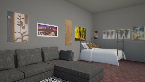 Dark Bedroom - Eclectic - Bedroom  - by CeeCee_