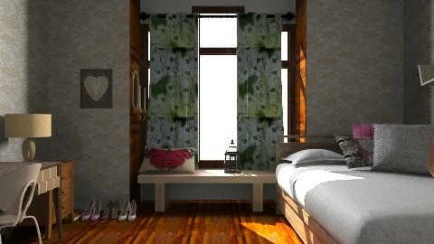 My aria room - Rustic - Bedroom  - by gabrielle greco