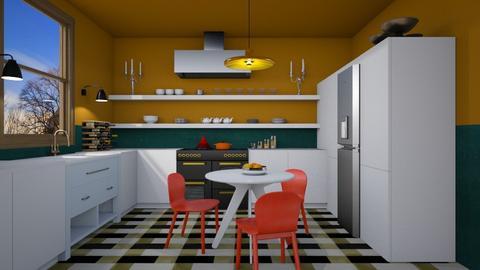 RetroModern Kitchen - Modern - Kitchen  - by 3rdfloor