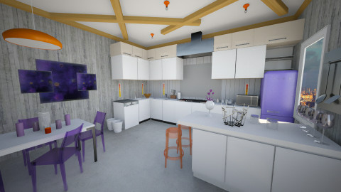 Viorange  - Eclectic - Kitchen  - by CJ and JA