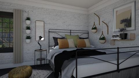 plant friendly bedroom - Bedroom - by hannahglass